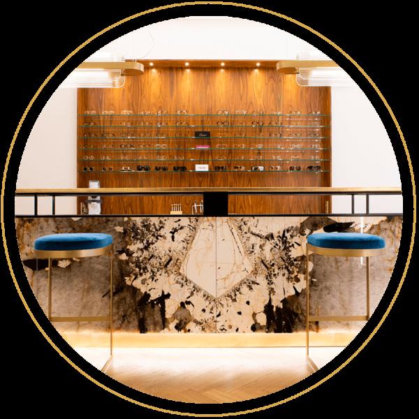 Le Bar à Lunettes By Thibaut, opticien à Liège - Bar quartzite du Brésil