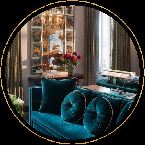 Le Bar à Lunettes By Thibaut, opticien à Liège - Art déco, or, bleu paon